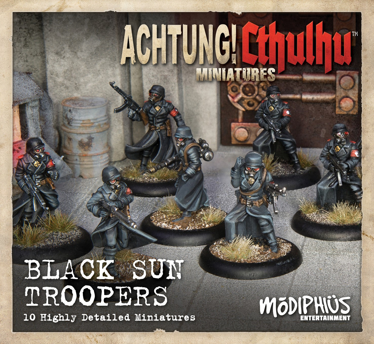 Achtung! Cthulhu Miniatures: Black Sun Troopers Unit Pack
