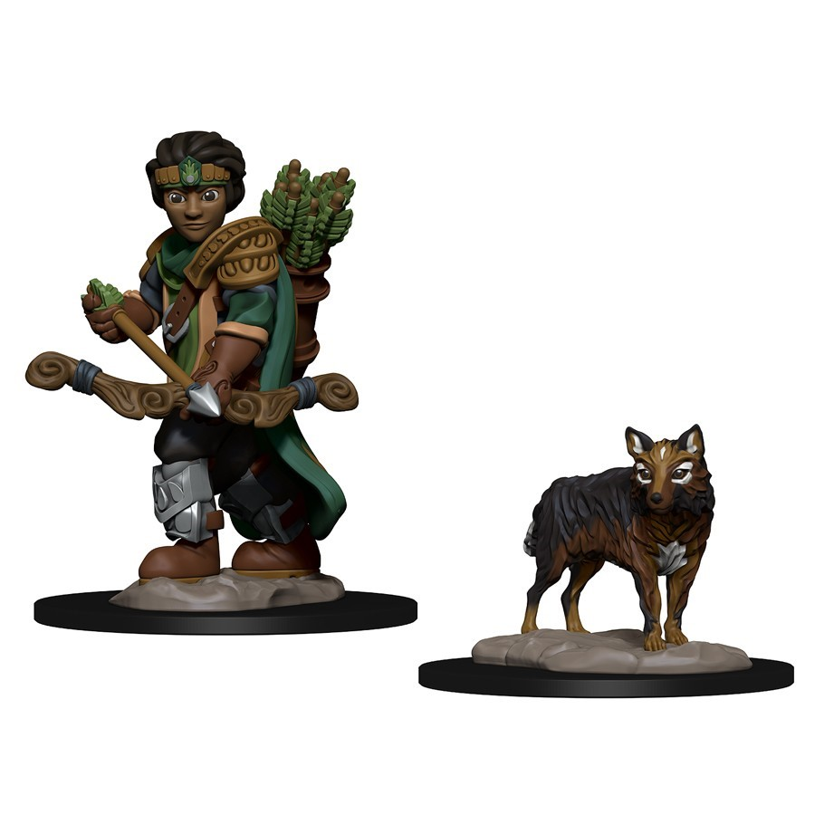 Browse Fantasy Miniatures Atomic Empire Ninja Division Painting Cerci Speed Circuit Wizkids Wardlings Boy Ranger And Wolf By