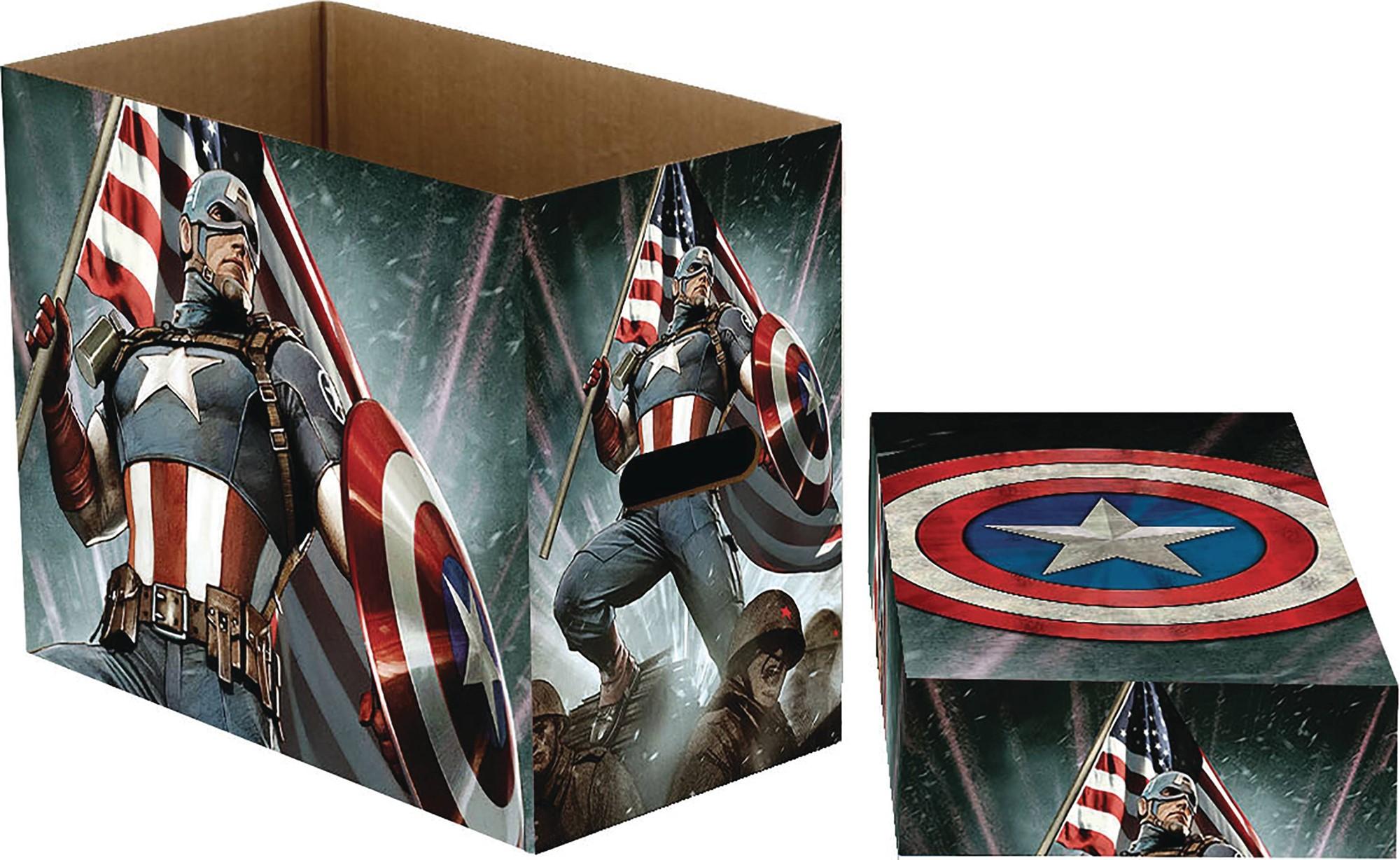 Marvel Comics Short Comic Book Storage Box Captain America Stars (5)  sc 1 st  Atomic Empire & Marvel Comics Short Comic Book Storage Box: Captain America Stars (5 ...