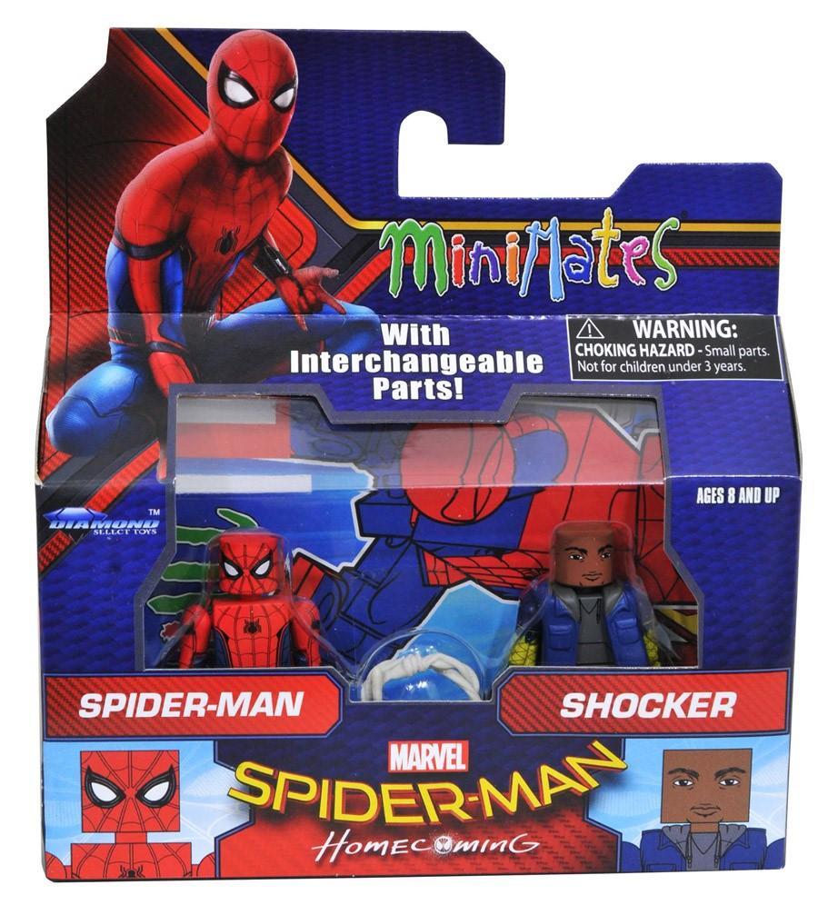 Marvel Minimates Serie 73 Spiderman Homecoming Film Spiderman /& Schocker