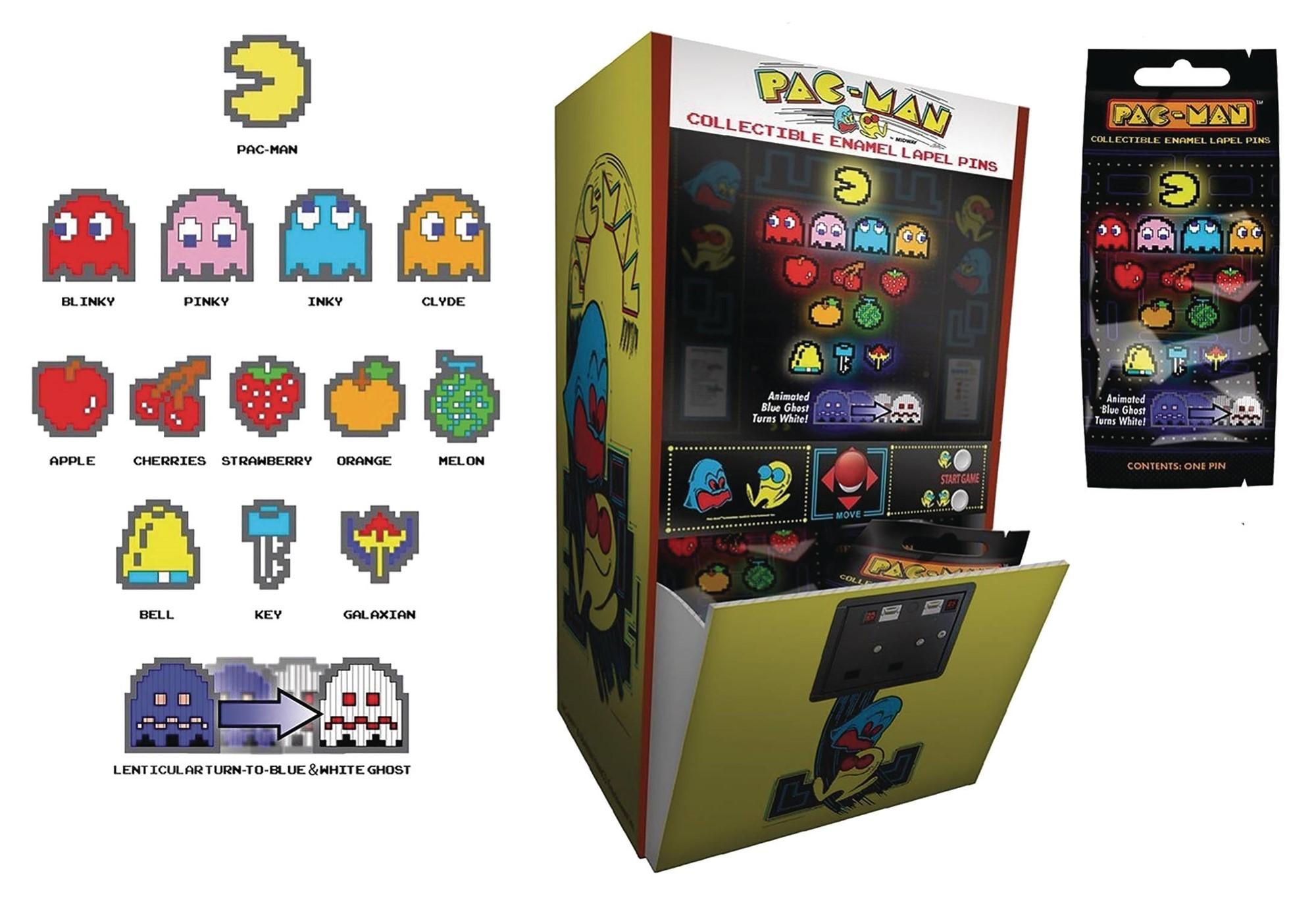 Figpin Pac-Man: Enamel Pin Blind Mystery Bag Display (24) - Atomic