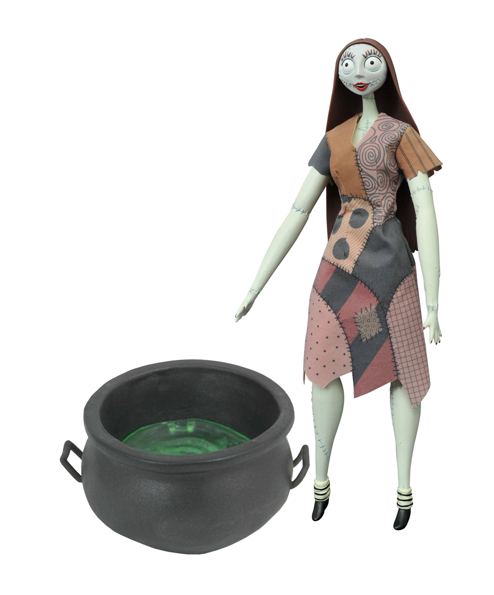 Nightmare Before Christmas: Cauldron Sally Deluxe Coffin Doll ...
