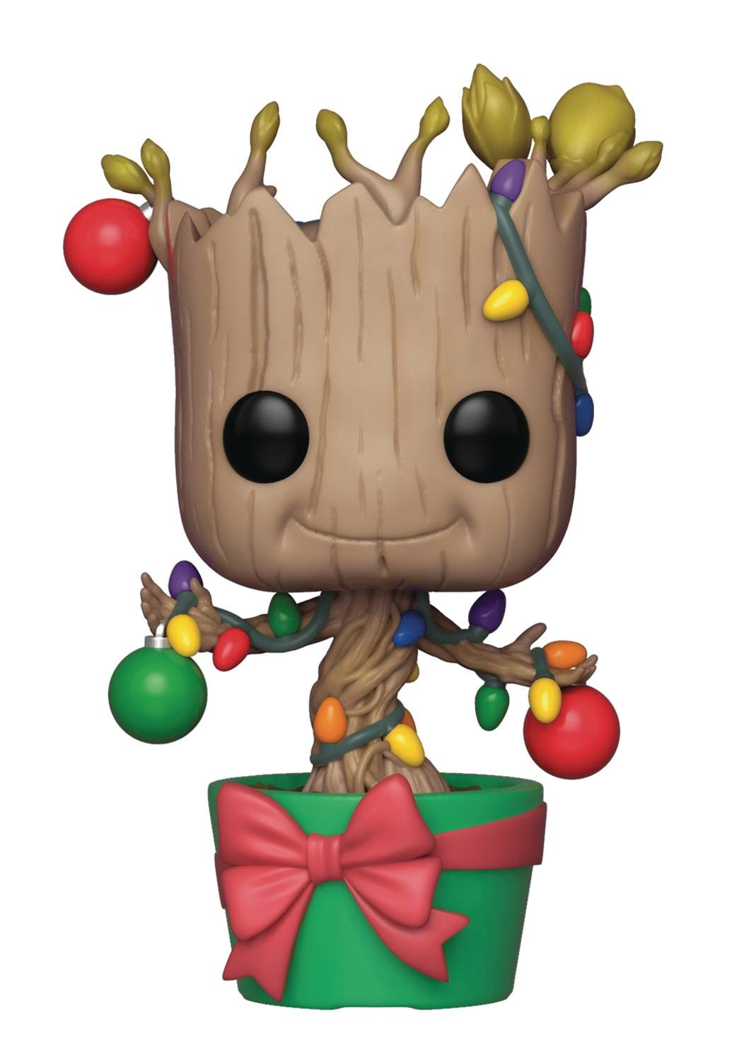 pop marvel christmas groot with lights and ornaments vinyl figure