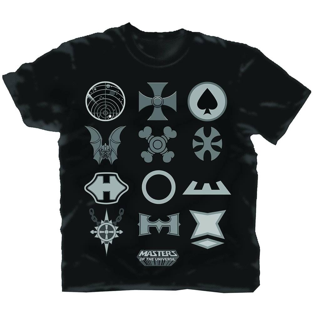 Masters Of The Universe Symbol Legend Black T Shirt Large