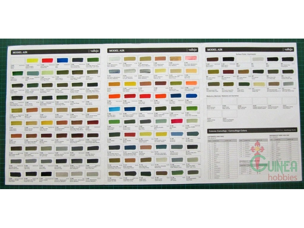 Model air hand painted color chart atomic empire model air hand painted color chart geenschuldenfo Images