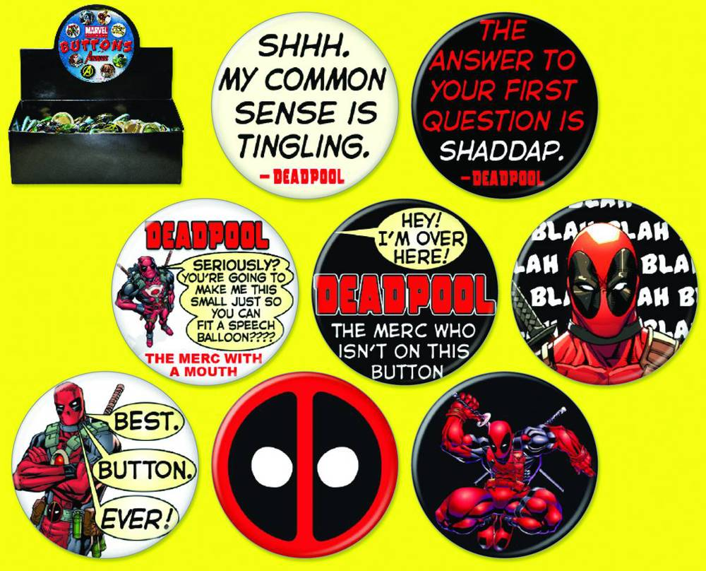 Deadpool Buttons Display (144) - Atomic Empire